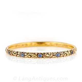 Victorian Sapphire Bangle Bracelet