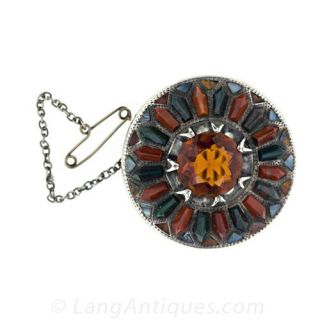 Scottish Agate Brooch Main View
