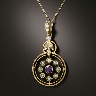 Victorian Seed Pearl and Amethyst Necklace - 3