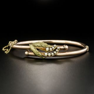Victorian Seed Pearl Bangle Bracelet, Circa 1880 - 2