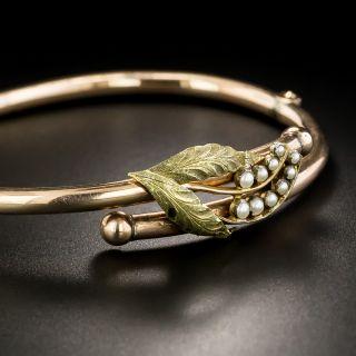 Victorian Seed Pearl Bangle Bracelet, Circa 1880
