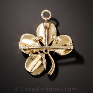 Victorian Seed Pearl Four Leaf Clover