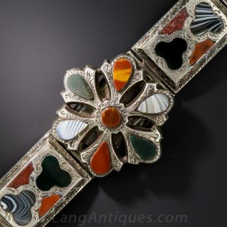 Victorian Silver and Agate Scottish Bracelet