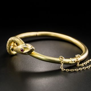 Victorian Snake Bangle Bracelet