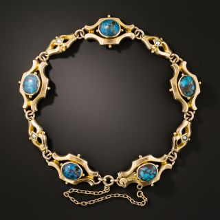 Victorian Spiderweb Turquoise Bracelet - 3