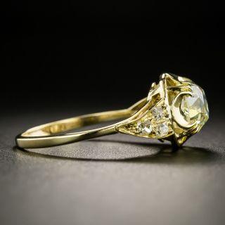 Victorian-Style 1.58 Carat Diamond Engagement Ring - GIA
