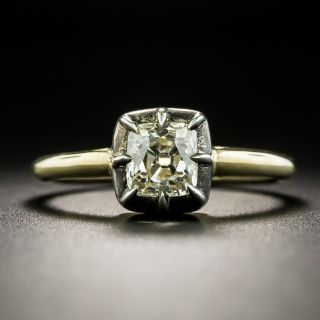 Victorian Style .93 Ct. Diamond Solitaire Engagement Ring - 2