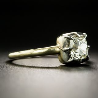 Victorian Style .93 Ct. Diamond Solitaire Engagement Ring