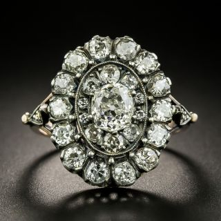 Victorian Style Diamond Cluster Ring - 2