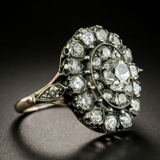 Victorian Style Diamond Cluster Ring