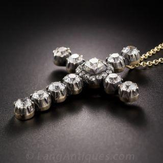 Victorian Style Diamond Cross Pendant