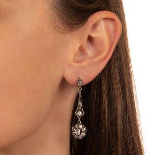 Victorian Style Diamond Dangle Earrings
