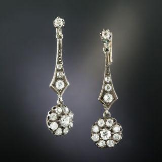 Victorian Style Diamond Dangle Earrings - 2
