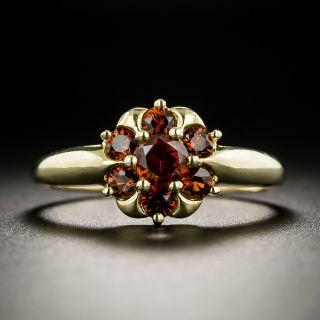 Victorian Style Garnet Cluster Ring - 3
