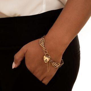 Victorian Style Gate Padlock Bracelet