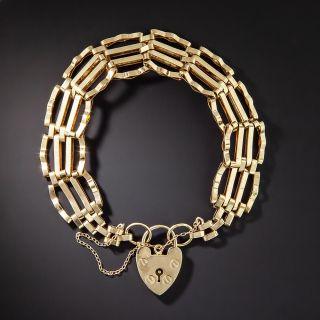 Victorian Style Gate Padlock Bracelet - 1