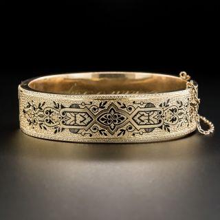 Victorian Taille d'Epargné Bangle Bracelet