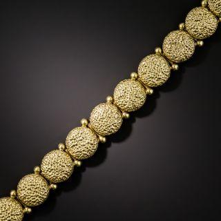 Victorian Textured Round Link Bracelet - 2