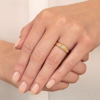 Victorian Three-Stone Diamond Gypsy Ring