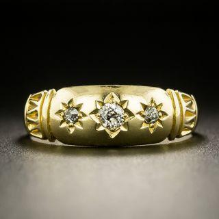 Victorian Three-Stone Gypsy Ring - English c.1901 - 2