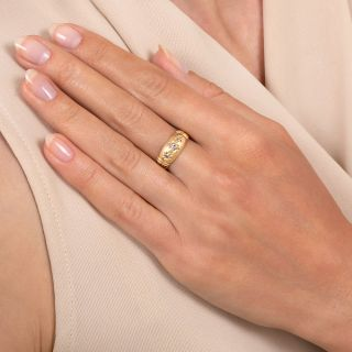 Victorian Three-Stone Gypsy Ring - English c.1901