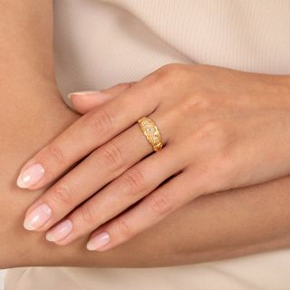 Victorian Three-Stone Gypsy Ring