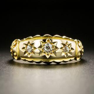 Victorian Three-Stone Gypsy Ring - 2