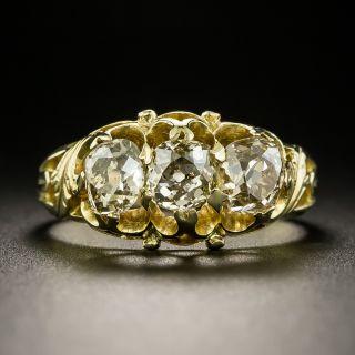 Victorian Three-Stone Old Mine-Cut Diamond Ring - 2