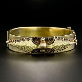Victorian Tri-Color Gold Bangle Bracelet - 2