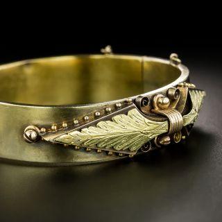 Victorian Tri-Color Gold Bangle Bracelet