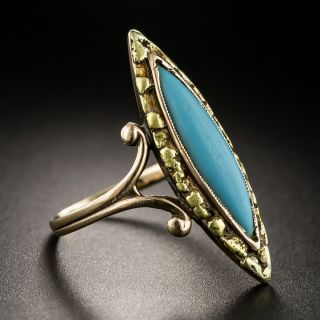 Victorian Turquoise and Gold Nugget Ring