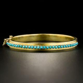 Victorian Turquoise Bangle Bracelet - 3