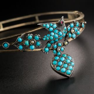 Victorian Turquoise Bird Bangle - 2