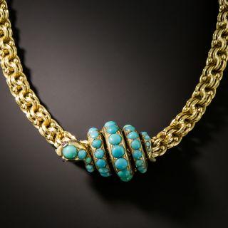 Victorian Turquoise Snake Pendant