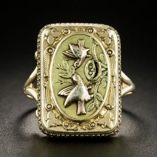 Victorian Two Birds Ring - 2