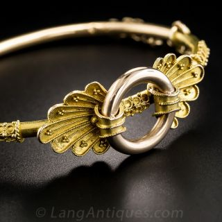 Victorian Two-Tone Gold Bangle Bracelet