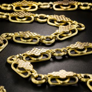 Victorian Two-Tone Gold Fancy Link Chain - 1