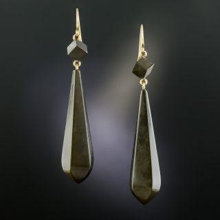 Victorian Vulcanite Drop Earrings