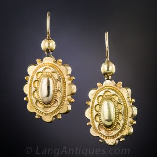 Victorian Yellow Gold Earrings