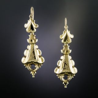 Victorian Yellow Gold Earrings - 2