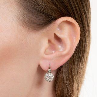 Viennese Vintage Diamond Cluster Earrings