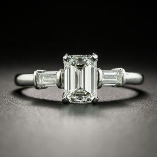Vintage 1.02 Carat Emerald-Cut Diamond Engagement Ring - GIA H VS1 - 2