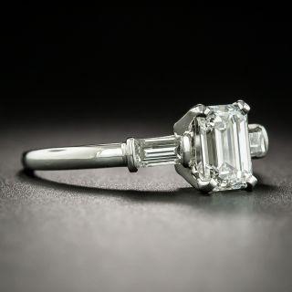 Vintage 1.02 Carat Emerald-Cut Diamond Engagement Ring - GIA H VS1