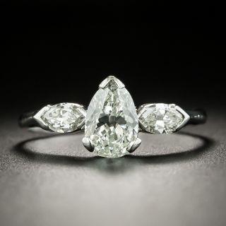 Vintage 1.10 Carat Pear Shaped Diamond Engagement Ring - GIA  J VS1 - 3