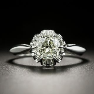 Vintage 1.12 Carat European-Cut Diamond Solitaire Engagement Ring - GIA - 3