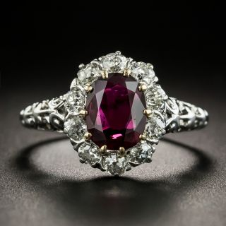 Vintage 1.24 Carat Ruby and Diamond Ring - 2