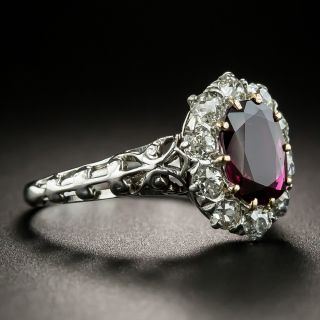Vintage 1.24 Carat Ruby and Diamond Ring