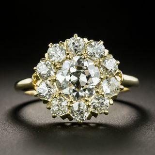 Vintage 1.25 Carat Center Diamond Halo Ring - GIA H SI1 - 1