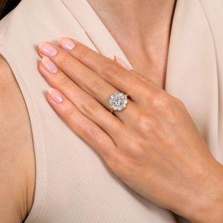 Vintage 1.25 Carat Center Diamond Halo Ring - GIA H SI1