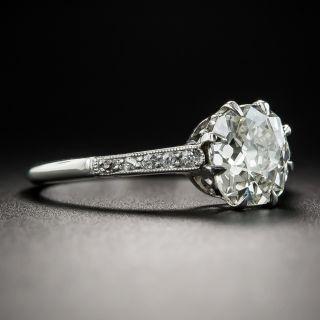 Vintage 1.30 Carat Diamond Platinum Solitaire Engagement Ring